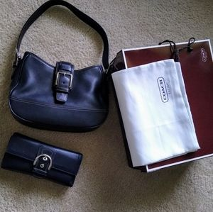 Vintage Coach Leather with matching wall